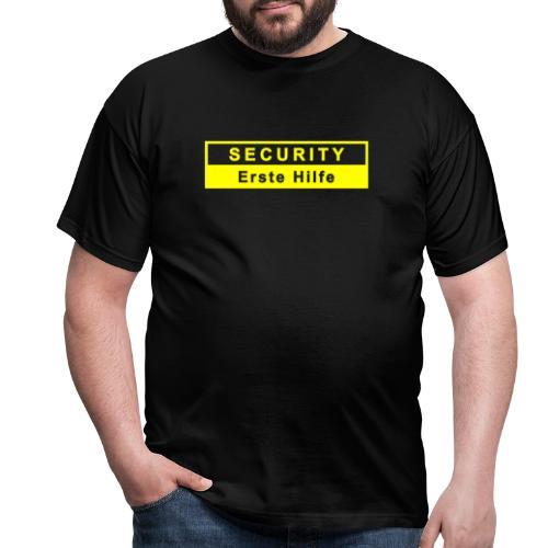 Security & Erste Hilfe, gelb - Männer T-Shirt