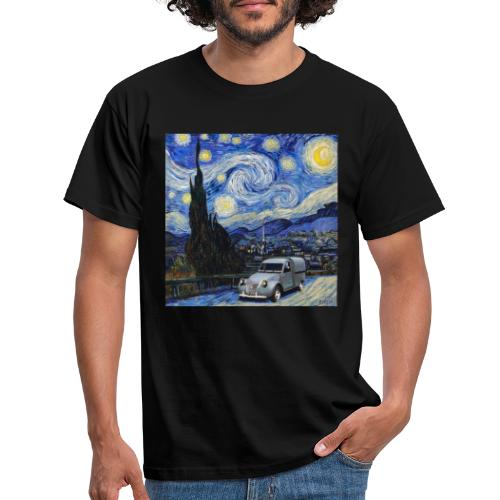 Notte stellata Van Gogh Citroen 2cv furgonette - Maglietta da uomo