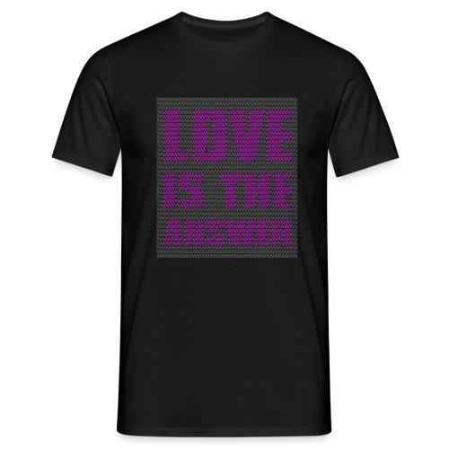 LOVE IS THE ANSWER - Maglietta da uomo