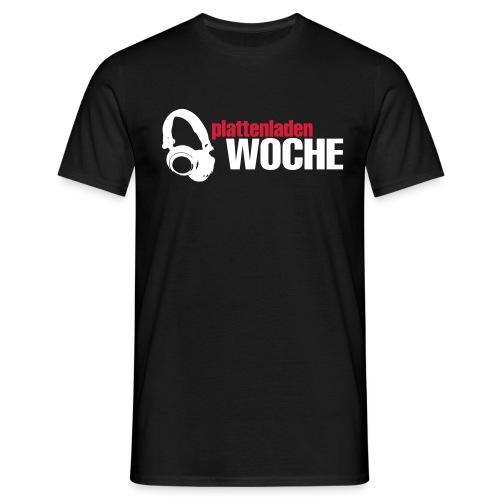 plattenwoche_weiss_rot - Männer T-Shirt