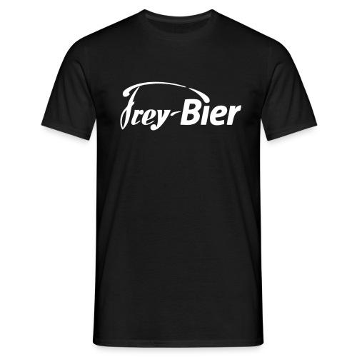 frey logo trans weiss - Männer T-Shirt