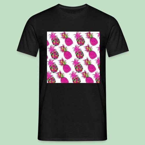 Pineapple magenta - Maglietta da uomo