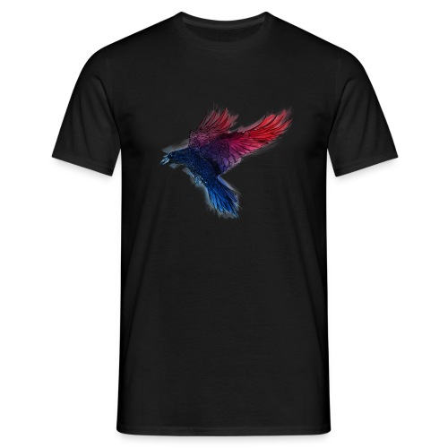 Watercolor Raven - Männer T-Shirt