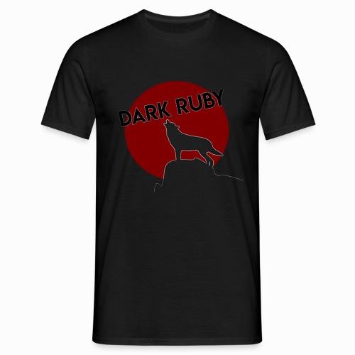 DARK RUBY Logo - Männer T-Shirt