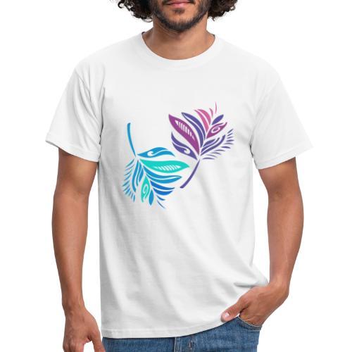 foglie geometriche - Maglietta da uomo