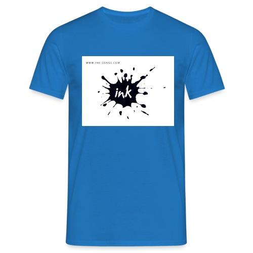 Ink Logo and website - Men's T-Shirt
