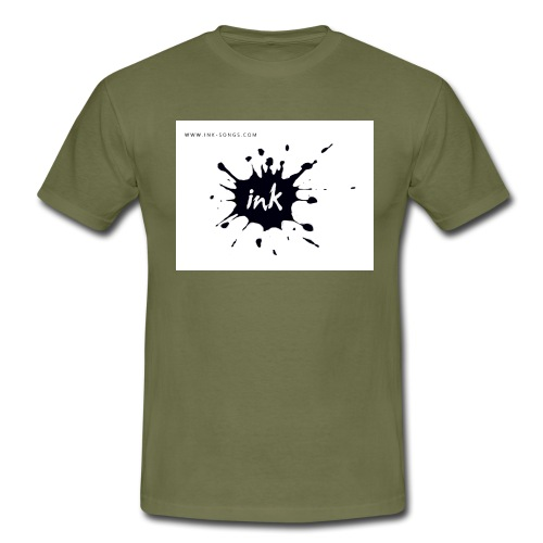 Ink Logo and website - Men's T-Shirt