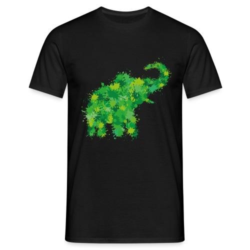 Elefant Farbklecks - Männer T-Shirt