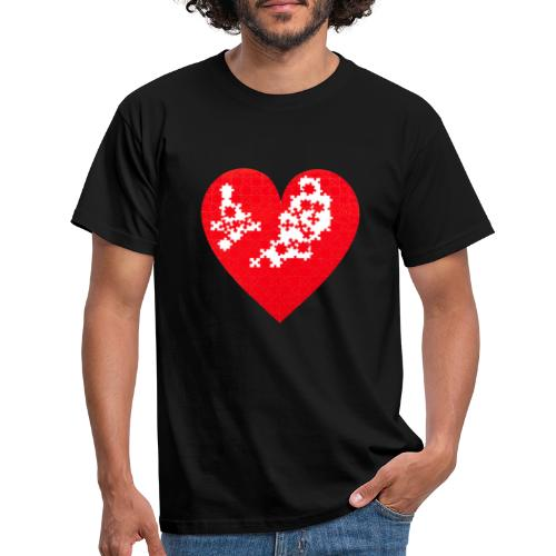 Heart Puzzle - Maglietta da uomo