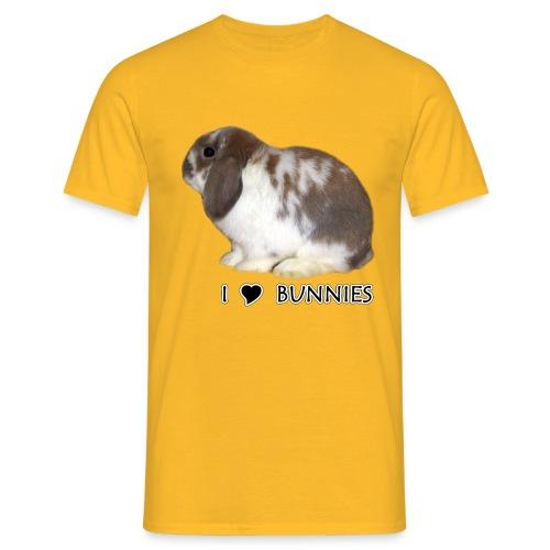 I Love Bunnies Luppis - Miesten t-paita