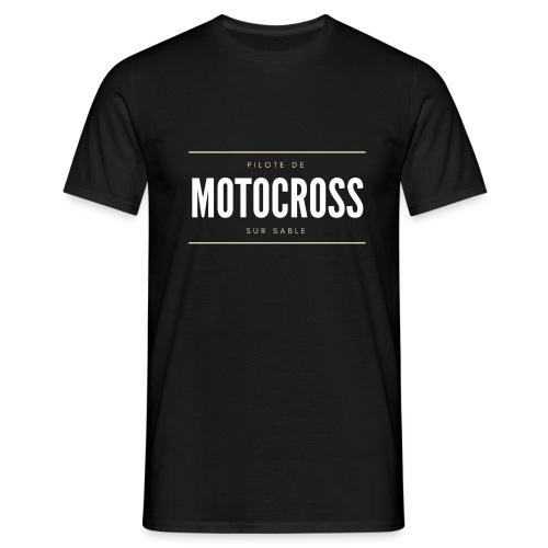 Pilote de Motocross sur sable - T-shirt Homme