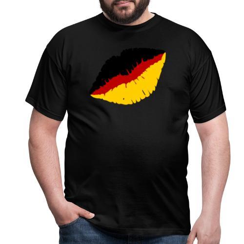 Deutschland Lippen Motiv - Männer T-Shirt