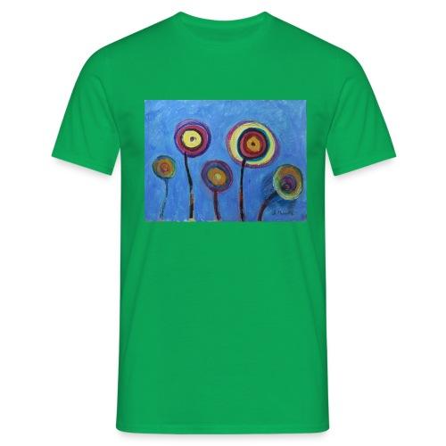 Blue flower - Maglietta da uomo