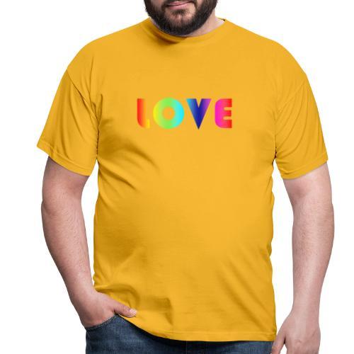 De Liefde van de regenboog - Mannen T-shirt