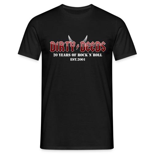 Dirty Deeds 20 Anniversary Druck f dunkel - Männer T-Shirt