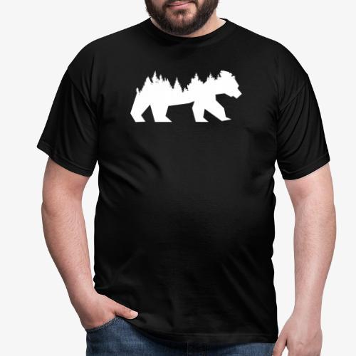 Bear Wald - Männer T-Shirt