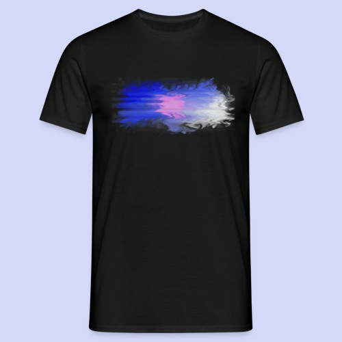 Blue lights - Female shirt - Herre-T-shirt