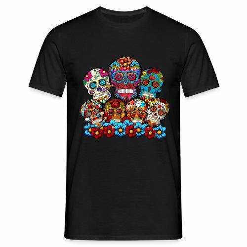 Grupo de calaveras - Camiseta hombre