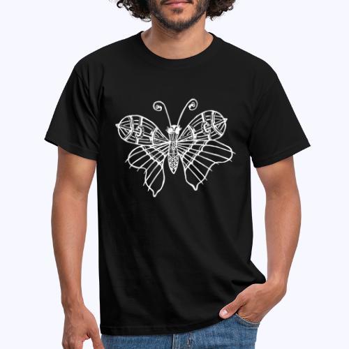 Schmetterling weiss - Männer T-Shirt