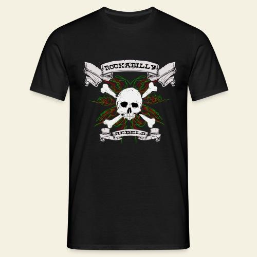 skull back - Herre-T-shirt