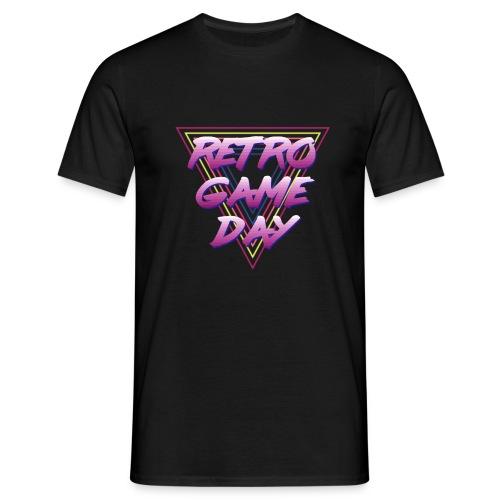 retrogameday logotriangle clean - Mannen T-shirt