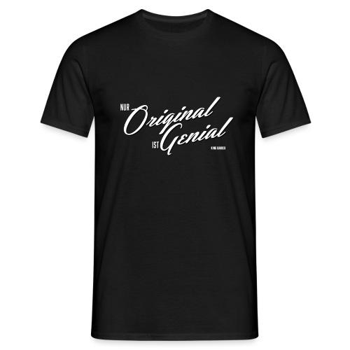 Genial weiss - Männer T-Shirt
