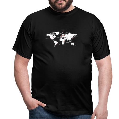 Mapa y ciudades - Camiseta hombre