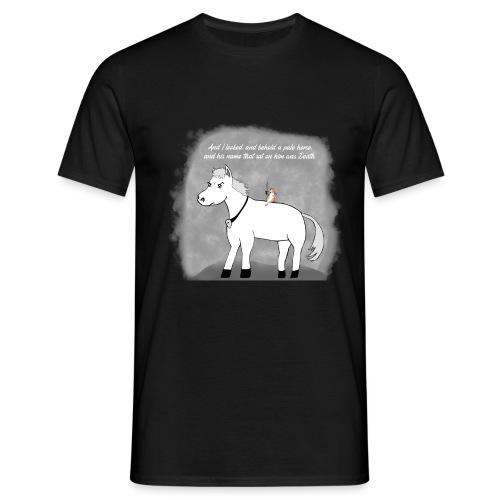 pale white horse. his rider death - T-skjorte for menn