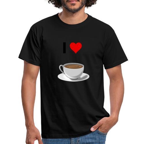 I LOVE Coffe - Männer T-Shirt