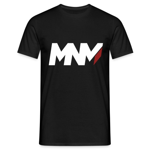 MNM With RED WHITE Corner - Men's T-Shirt
