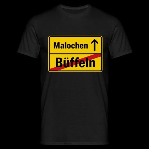 bueffeln vs. malochen - Männer T-Shirt