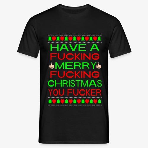 Merry Fucking Christmas Ugly Christmas Sweater - Männer T-Shirt