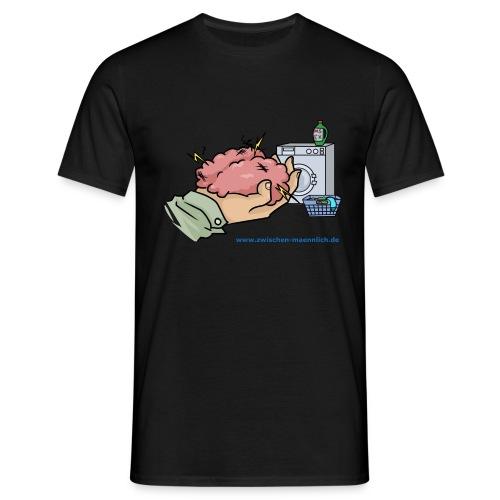 Gehirn waschen mit waschmittel - Männer T-Shirt