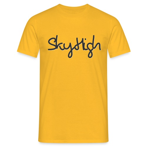SkyHigh - Men's Premium T-Shirt - Black Lettering - Men's T-Shirt