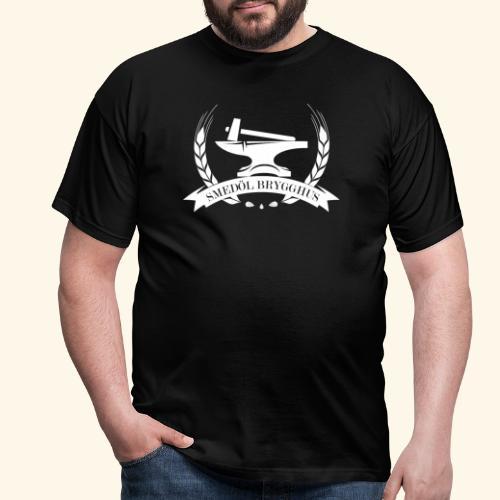 Smedöl Brygghus Logga Vit - T-shirt herr
