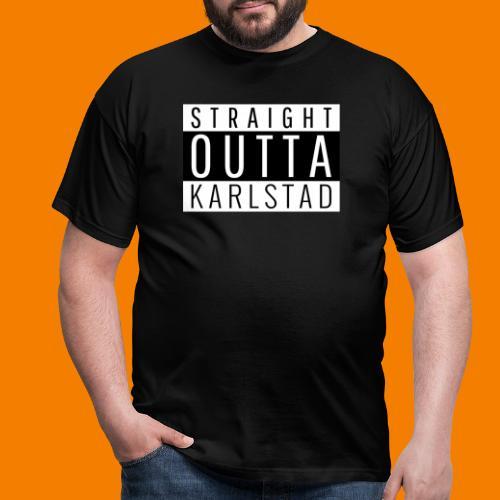 Straight outta Karlstad - T-shirt herr