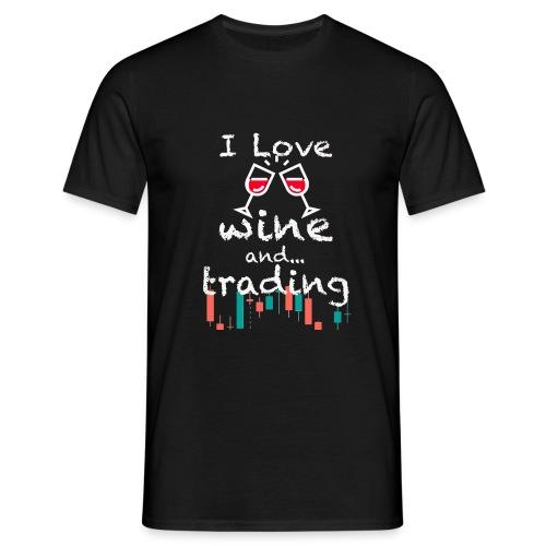 Trader Forex Wallstreet Stock market RedWine Glass - Maglietta da uomo