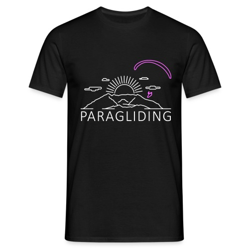 Gleitschirmfliegen Alpen - Männer T-Shirt