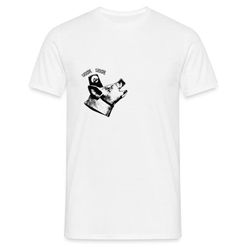Sound of da Police - valkoinen printti - Miesten t-paita