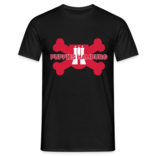 Puppies Hamburg Logo - Männer T-Shirt