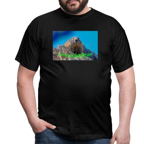 Servus in den Bergen - Männer T-Shirt