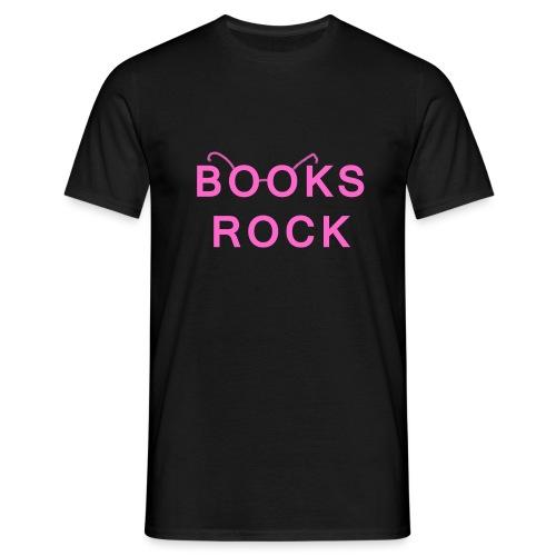 Books Rock Pink - Men's T-Shirt