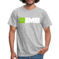 IMB Logo (plain) - Men's T-Shirt heather grey
