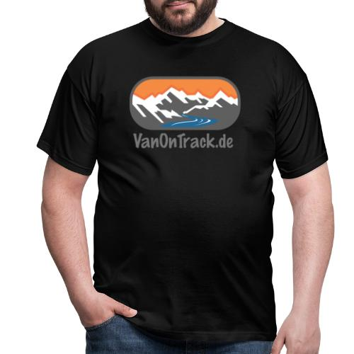 VanOnTrack Logo Berge, See und Freihet - Männer T-Shirt