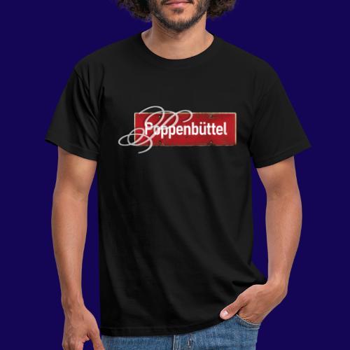 (Hamburg-) Poppenbüttel: Ortsschild mit Initial - Männer T-Shirt
