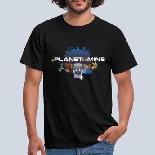 logo planetofmine dark HD - T-shirt Homme