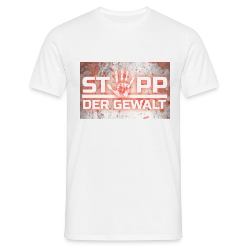 STOPP DER GEWALT - Men's T-Shirt