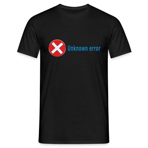 Unkown Error - Miesten t-paita