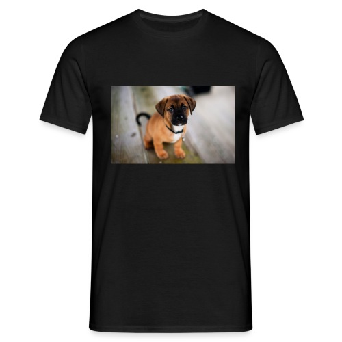 cute dog - Herre-T-shirt