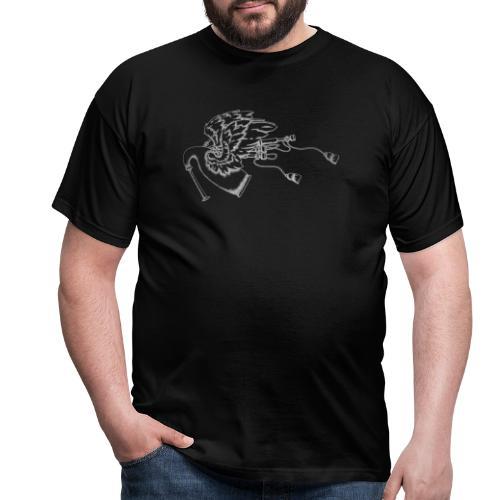 Geflügelte Bagpipe (wie silber) - Männer T-Shirt